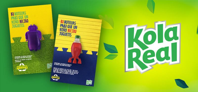 Campaña Botellas por Sonrisas Kola Real